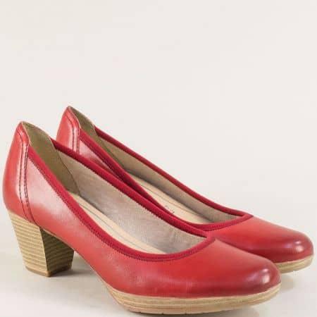 Червени дамски обувки на среден ток с Anti-shock система 222420chv