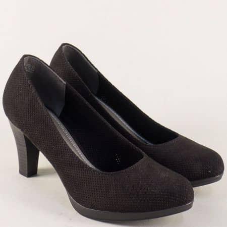 Модерни черни обувки на висок ток 222445nch