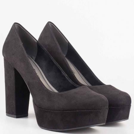 Дамски обувки на висок ток в черен цвят от утвърден немски производител 222446vch