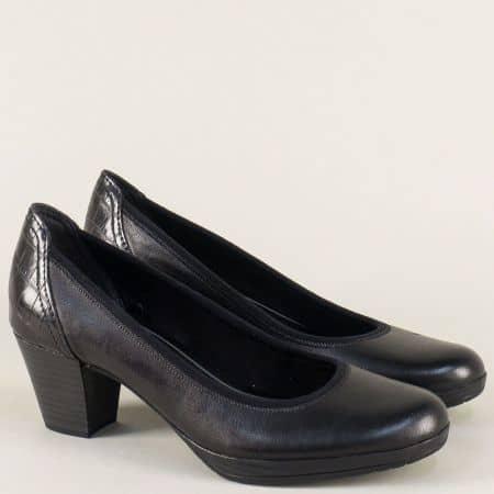 Черни обувки Marco Tozzi с мемори пяна и Anti- shock система в ходилото  2241829ch