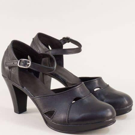 Дамски сандали със затворени пръсти и пета в черно 2386843ch