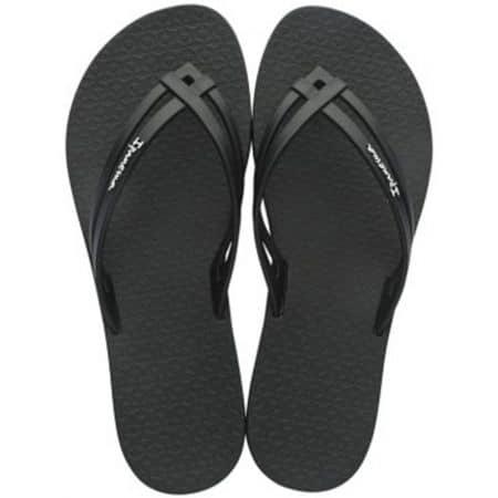Черни дамски джапанки на комфортно и равно ходило 2606020766