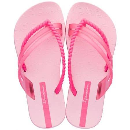Равни детски джапанки в розов цвят- IPANEMA 2613721310