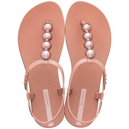 Дамски сандали с декорация в цвят корал- IPANEMA 2620724185