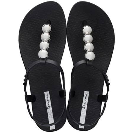 Дамски сандали с декорация- IPANEMA в черен цвят 2620724827