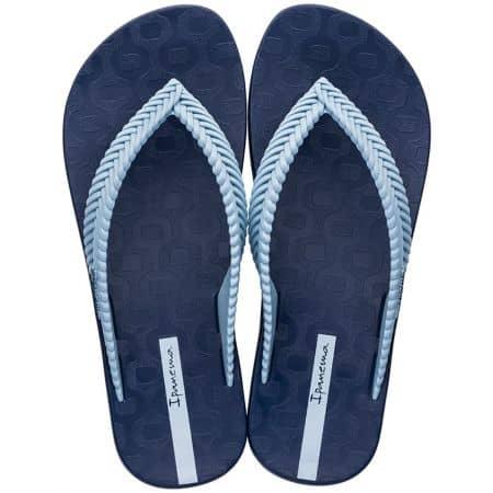 Тъмно сини дамски джапанки с лента между пръста 2626721119