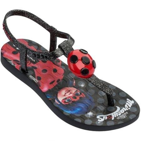 Черни детски сандали с декорация- IPANEMA 2628320766