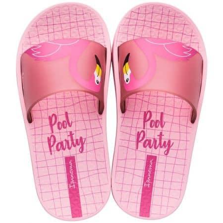 Розови детски джапанки с цяла лента- IPANEMA 2632502843