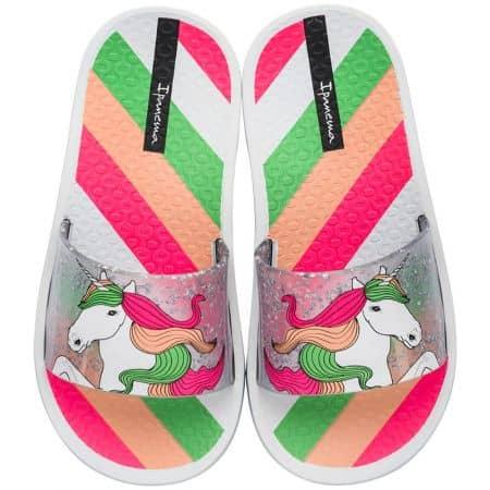 Детски джапанки в бяло, зелено, розово и оранж- IPANEMA 2632520897