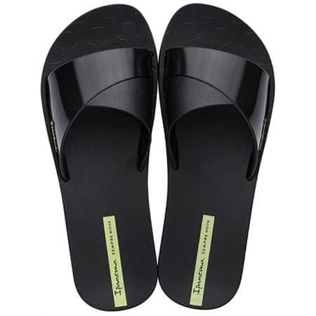 Дамски джапанки- IPANEMA на равно ходило в черен цвят 2636620766