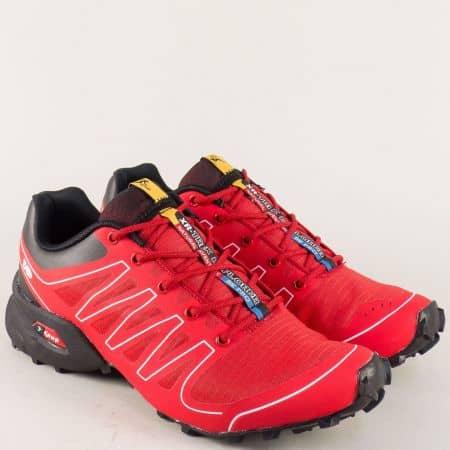 Червени мъжки маратонки с връзки- Knup 263717-45chv