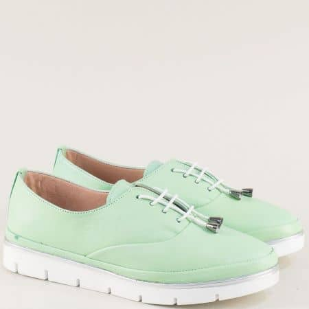 Зелени дамски обувки от естествена кожа на анатомично ходило 26514061z