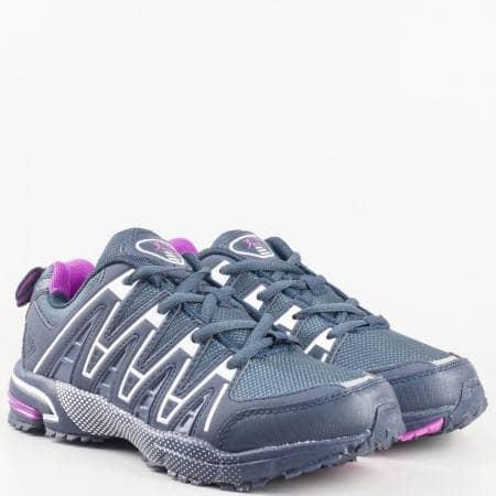 Дамски спортни маратонки за всеки ден на комфортно ходило в син цвят 266815-40s