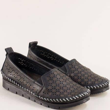 Дамски летни обувки на анатомично ходило от естествена кожа 287ch