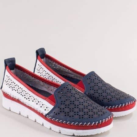 Дамски анатомични обувки от естествена кожа в цвят томи 287tomi