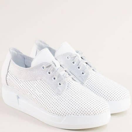 Български дамски обувки на платформа от естествена кожа 2898218bsr