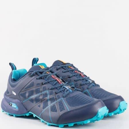 Мъжки маратонки с грайфер Knup в син цвят 2916-45s