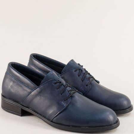 Сини дамски обувки с връзки от естествена кожа 292arizonas