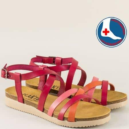 Дамски сандали от естествена кожа на ортопедично ходило 295184chvps