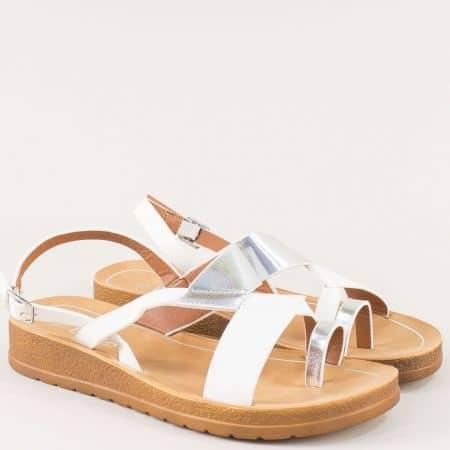 Бели дамски сандали на удобно ходило- ELIZA 2969137b