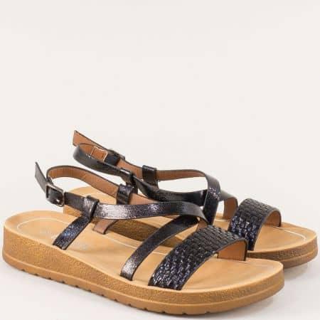 Черни дамски сандали Елиза с фини каишки 2969220ch