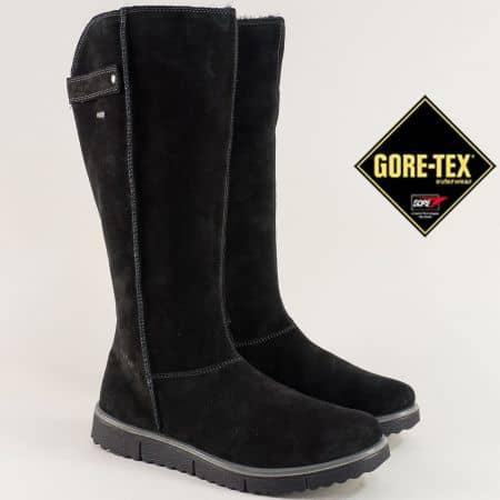 Дамски ботуши в черен цвят с Gore-Tex мембрана 300657vch