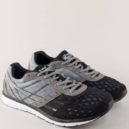 Мъжки маратонки с връзки на комфортно ходило 30108-45ch