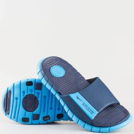 Мъжки комфортни джапанки произведени от висококачествен гумен материал на Grand Attack в син цвят 30116-45s