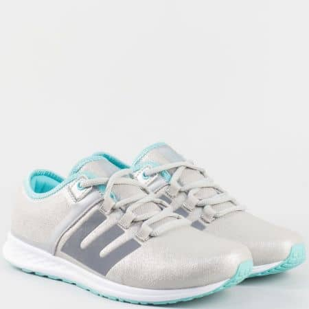 Дамски свежи маратонки с връзки- Grand Attack в сив цвят 30161-40sv