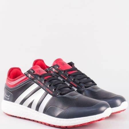 Мъжки спортни обувки с връзки- GRAND ATTACK в червено и черно  30175-45chchv