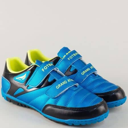 Детски маратонки на удобно ходило в син и черен цвят 30208-35s