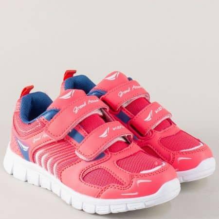 Детски маратонки в цикламен цвят на равно ходило 30215-30ck