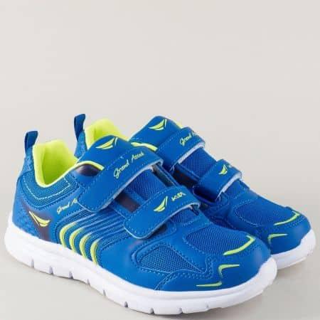 Детски маратонки в син цвят на равно ходило 30216-35s