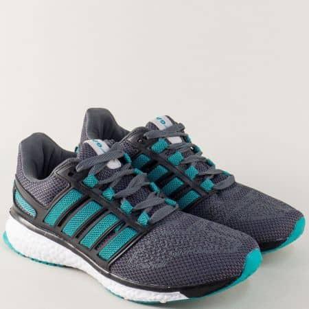 Мъжки маратонки в зелено и сиво- GRAND ATTACK 30228-45sv