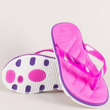 Детски джапанки в лилав цвят на удобно ходило 30256l