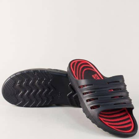Мъжки джапанки в комбинация от черен и червен цвят 30270chv
