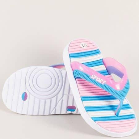 Детски джапанки в бяло, розово и синьо- GRAND ATTACK 30282rz