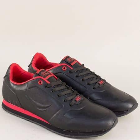 Мъжки маратонки- GRAND ATTACK в червено и черно 30325-45ch