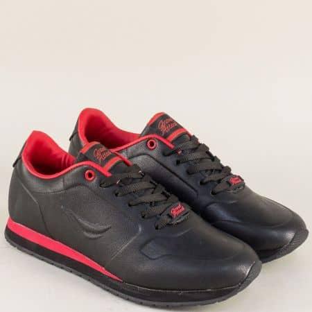 Удобни дамски маратонки в черен цвят на равно ходило 30326-40ch