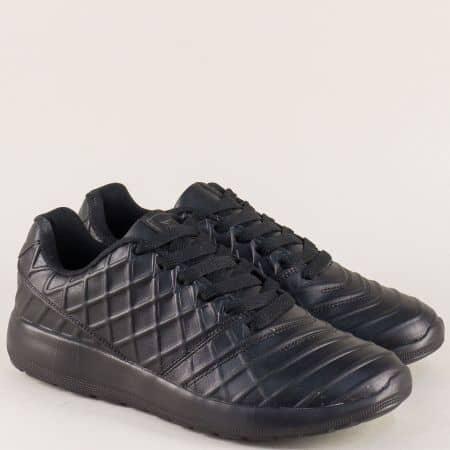 Мъжки спортни обувки с връзки на равно и комфортно ходило 30330-45ch