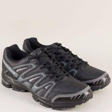Мъжки маратонки- GRAND ATTACK в черно и сиво 30332-49ch