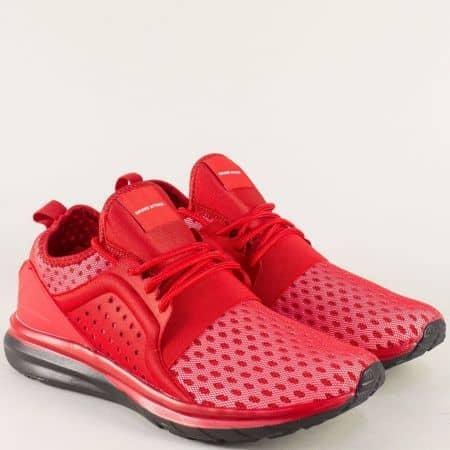 Мъжки маратонки с връзки в червен цвят- Grand Attack 30348-45chv