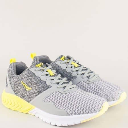 Мъжки маратонки с връзки в сив цвят- Grand Attack  30355-45sv