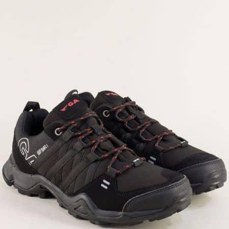 Черни мъжки маратонки на удобно ходило- Grand Attack  30364-45ch
