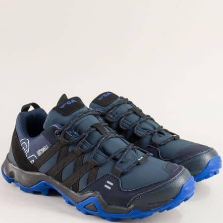 Мъжки маратонки в черно и синьо- GRAND ATTACK 30364-45s