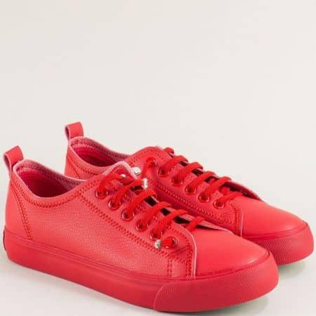 Червени дамски кецове с ластични връзки- Grand Attack  30381-40chv