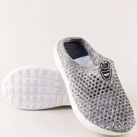 Дамски чехли със затворени пръсти в черен цвят 30399ch