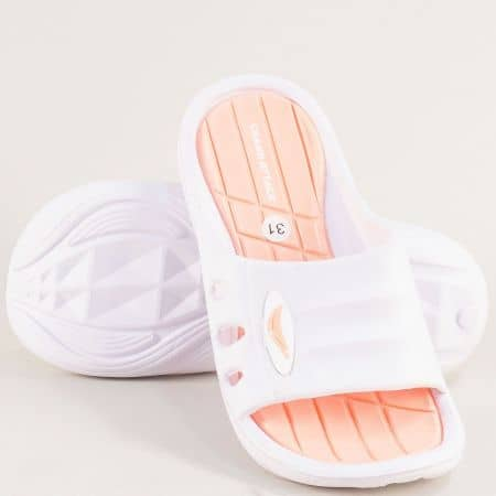 Детски джапанки в бяло и оранж-  GRAND ATTACK 30433-35bo