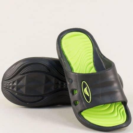 Детски джапанки в черно зелено- GRAND ATTACK 30433-35chz