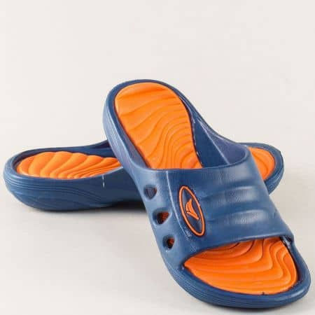 Детски джапанки в тъмно синьо и оранж- GRAND ATTACK 30433-35s